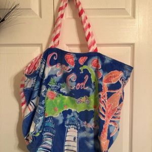 NWT Lily Pulitzer Cape Cod terry tote